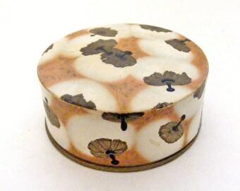 Vintage art deco Coty powder box, Lalique powder puff design