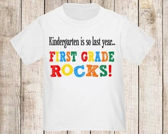 Back to School First Grade Rocks Shirt - ANY YEAR