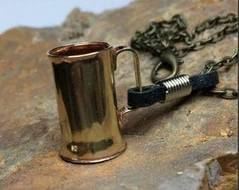 Tankard and Leather Tankard Strap - Necklace - Miniature