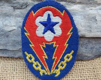 WWII U.S. Army European Theater of Operations Advanced Base ETO Patch  Cut Edge