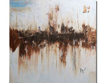 Summer sale...GOBI TAN.........originalacrylic painting abstract art
