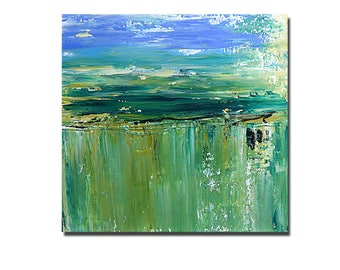 GREEN........original acrylic painting abstract art