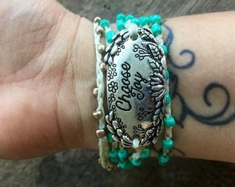 Great Joy: Versatile crocheted necklace / bracelet / belt / headband