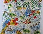 Vintage Tommy Hilfiger 90s Hawaiian Shirt Short Sleeve Camp Shirt Size L