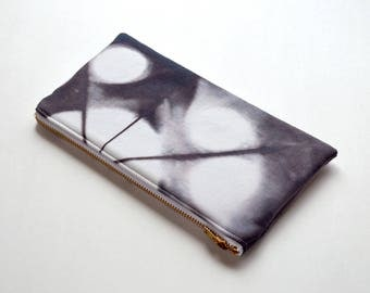 Shibori Pouch - Dark Chocolate Brown