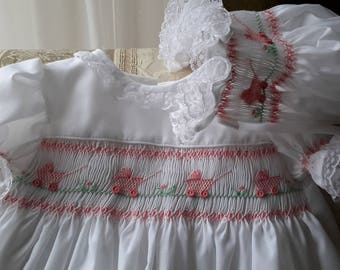 Hand Smocked Girls Dresses  ...Baby Carriage With Slip & Pants Combo.....By The My Collection 2