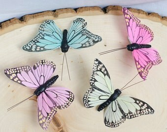 Butterfly hair clips - set of 4