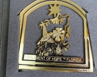 D164)  Vintage Desert Shield Desert Storm Ornament of Hope