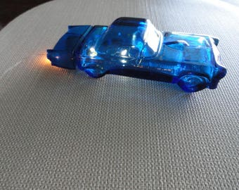 Thunderbird 1955 Blue Glass Avon Car Bottle
