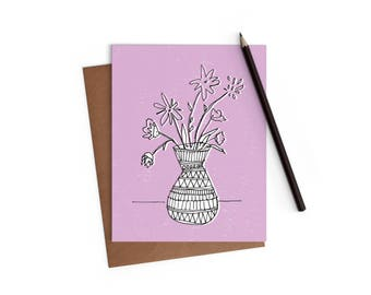 Love Card- Roses are Red - Funny Card - Greeting Card - Flowers - Digitally Printed A2 Cards w/ envelope