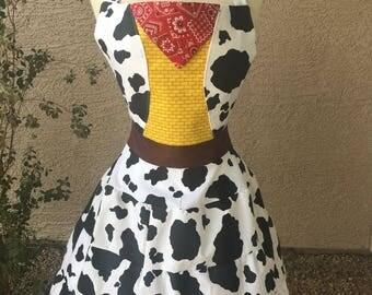 Cowboy costume apron dress