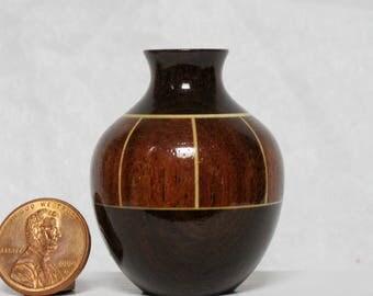 Boire & Mgurure Turned Wood Miniature Vase