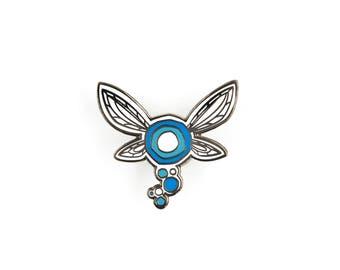 Navi / Legend of Zelda Hard Enamel Pin / Lapel Pin / Ocarina of Time / Nintendo 64  / Fairy / Messenger Bag / Backpack / N64 / Video games