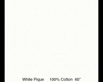"Pique / Seafoam Pique / 100% Cotton / 60 Inches Wide / Pleats for Smocking / 60"" wide / by Fabric Finders"