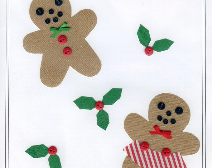 Christmas Appliqué / Gingerbread / Press & Sew Appliqué  / Appliqué  / Easy Christmas Outfit / Gingerbread Boy and Girl by Ellen McCarn