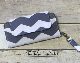Wallet Clutch iPhone 6 Wallet Case with Wristlet...Cell Phone Wallet; Smart Phone Case