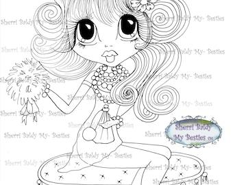 INSTANT DOWNLOAD Digital Digi Stamps Big Eye Big Head Dolls Bestie New Bestie Glam Girl img614 Bestie My Besties By Sherri Baldy
