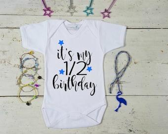 Half Birthday Outfit, 1/2 Birthday Outfit, Half Birthday, Half Birthday Onesie, 6 months outfit, Half Birthday Girl/Boy