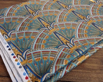 """Gorgeous Studio RK for Robert Kaufman Valley of the Kings """" Spice"""" Fabric made in Japan 112"""" by 44"""""""