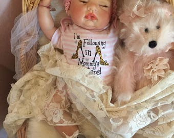 From The Sugar Kit Reborn Baby Doll Corinne  20 inch kit Completed Doll