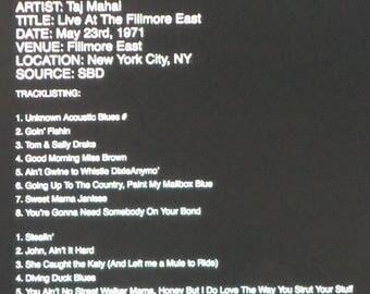"Taj Mahal---The Next Real Thing--""Fillmore East Recording"""