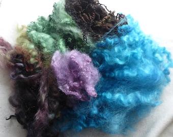 Great British hand dyed felting fleece pack - 100g - Bag 77