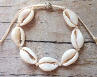 beach jewelry, cowrie shell bracelet, child anklet, beachcomber mermaid bracelet , bohemian bracelet