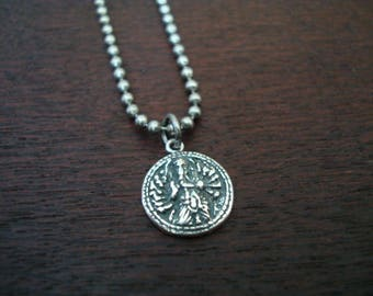 Men's Eight Armed Ganesha Necklace // Good Luck, Protection, & Good Fortune Necklace // Mens Jewelry, Yoga , Buddhist Jewelry
