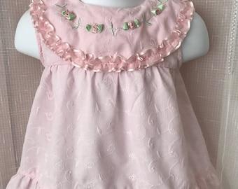 Vintage Elken Menno Baby Dress, 6-9 mos.