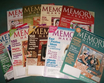 Memory Makers Scrapping Magazines..Creating Keepsakes Magazines..9 Scrapbook Magazines...Scrapbook Idea Books...Supplies...