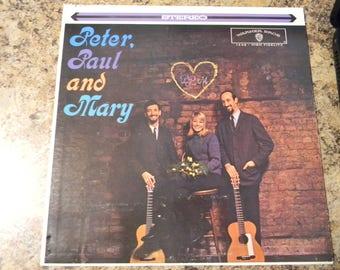 "Peter, Paul and Mary 12"" Vinyl LP, Vintage album, 1962"