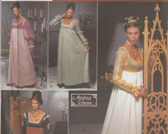 Renaissance Gown Pattern Simplicity 9531 Sizes 14 - 20 Uncut