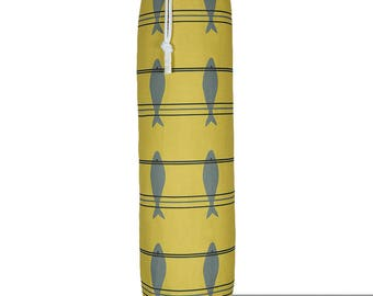 "Exclusive Designer Plastic Carrier Grocery Bag Holder Dispenser - Fish, ""Scandinavian"" Collection From Izabela Peters, Made in The UK"