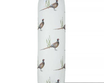 "Exclusive Designer Plastic Carrier Grocery Bag Holder Dispenser - Pheasants, ""Phillips Park"" Collection From Izabela Peters, Made in The UK"