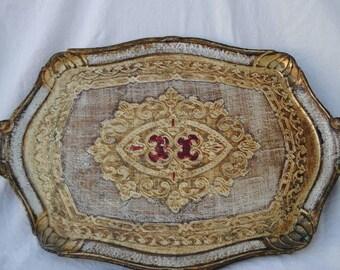 Gold Florentine Decorative Tray
