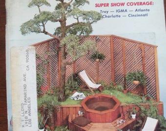 Vintage  Miniaturist's magazine Nutshell News June 1981 out of print back issue used