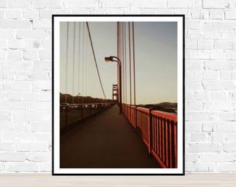 Digital download | THE BRIDGE | Golden Gate Bridge | San Francisco art print | travel photography | urban printable wall art | city prints