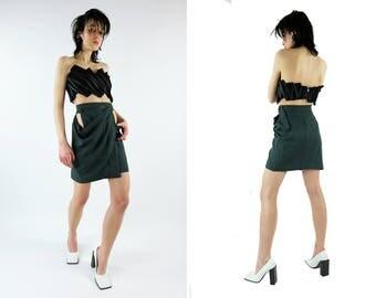AZZEDINE ALAIA Wrap / Cutout Mini Skirt