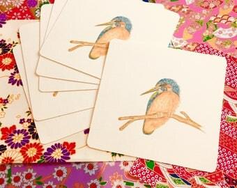 Kingfisher, Kingfishers, Small Notebook Embellishements, Journal Decoration, Notebook Scrapbook Kingfisher Bird, Bird Journal, Art Print