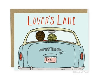 Cute Love Card, Cute Anniversary Card, Cute Couple Card, Cute Valentine Card, Husband Card, Boyfriend Card, Wife Card, Nostalgic Love Card