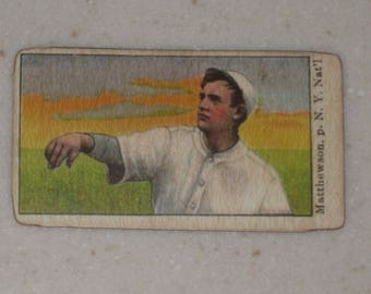 new just in christy mathewson 1910 E105 Mello-Mint gum
