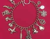 14 Disney Princesses Charm Bracelet
