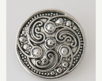 1 PC 18MM Swirl Silver Candy Snap Charm kb5141 CC3181