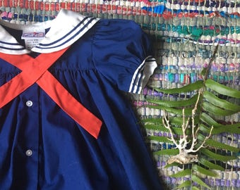 Nautical Dress 6 Months Vintage Sailor Dress