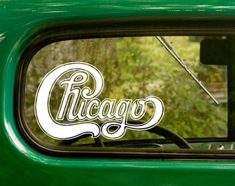 Chicago Sticker Etsy - Window stickers for cars chicago