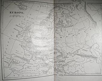 1800 S Book Map Of Europe Antique Map Us Maps Old Maps 1800 S Map France Germany Spain