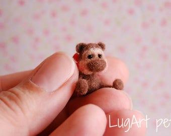 GUS, a tiny OOAK artist bear.