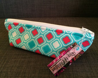 Patterned Zipper Pouch - Small