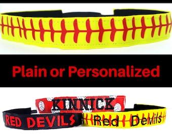 Softball Headband - Softball Team Headband - Personalize Headband - No Slip Headband - Team Headbands - Softball Team Gifts- Softball Stitch