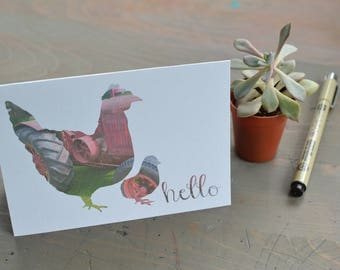 Chicken Card Set: Chicken Lover, Crazy Chicken Lady, Stationery, Chicken, Hen and Chick, Photography, Photo cards